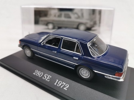 Mercedes-Benz 280 SE ( W116 ) 1972 Blauw 1-43 Altaya Mercedes Collection