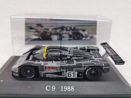 Sauber C9 Nr# 61 Mercedes Racing Sports Car 1988 1-43 Altaya Mercedes Collection