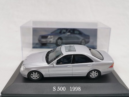 Mercedes-Benz S 500 ( W220 ) 1998 Zilver 1-43 Altaya Mercedes Collection