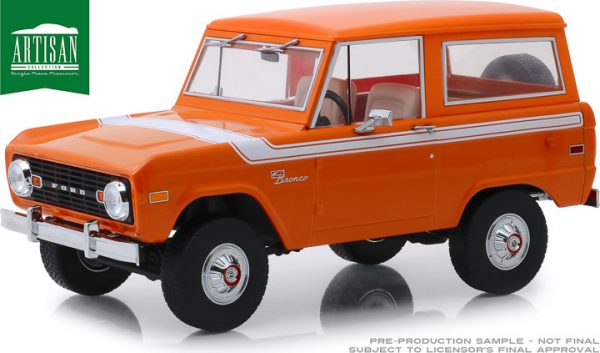 Ford Bronco 1977 Special Decor 1-18 Oranje Greenlight Collectibles