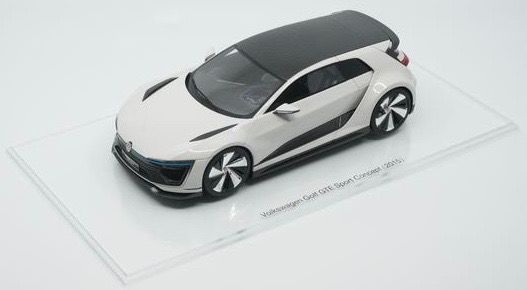 "Volkswagen Golf VII GTE Sport Concept Car ""Wothersee 2015"" Wit 1-18 DNA Collectibles Limited 320 Pieces"