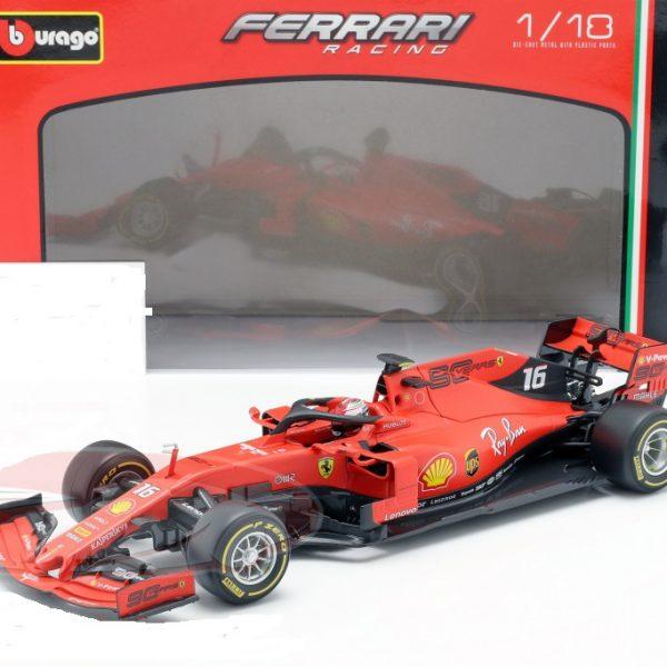 Ferrari SF90 F1 #16 Charles Leclerc 1-18 Burago Race Series
