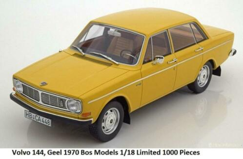 Volvo 144 1970 Geel 1-18 BOS Models Limited 1000 Pieces