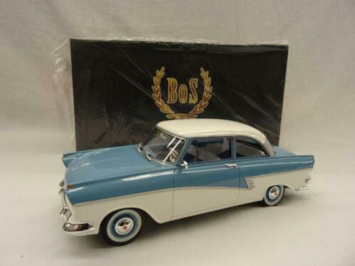 Ford Taunus 17M (P2) 1957 Blauw/Wit 1-18 BOS-Models Limited 1000 Pieces