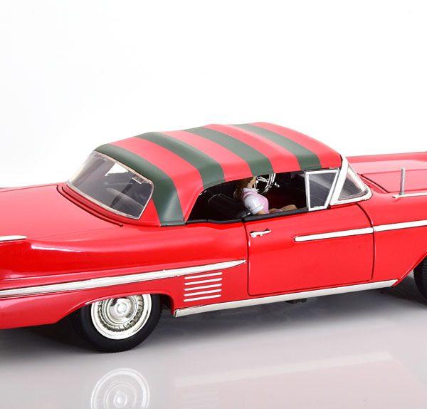 """Cadillac Series 62 1958 """"A Nightmare on Elm Street"""" Freddy Krueger Rood 1-24 Jada Toys"""