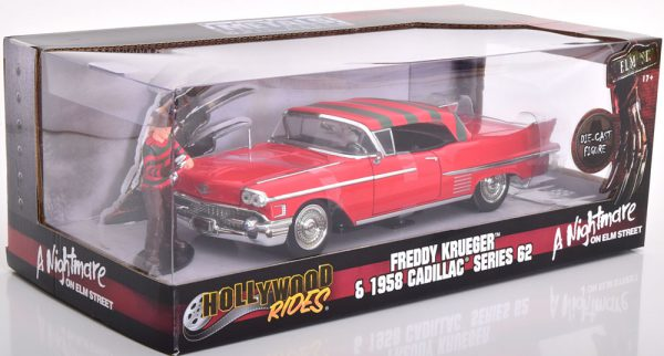 "Cadillac Series 62 1958 ""A Nightmare on Elm Street"" Freddy Krueger Rood 1-24 Jada Toys"