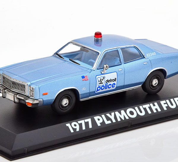 Plymouth Fury Detroit Police Beverly Hills Cop 1977 1-43 Blauw Greenlight Collectibles