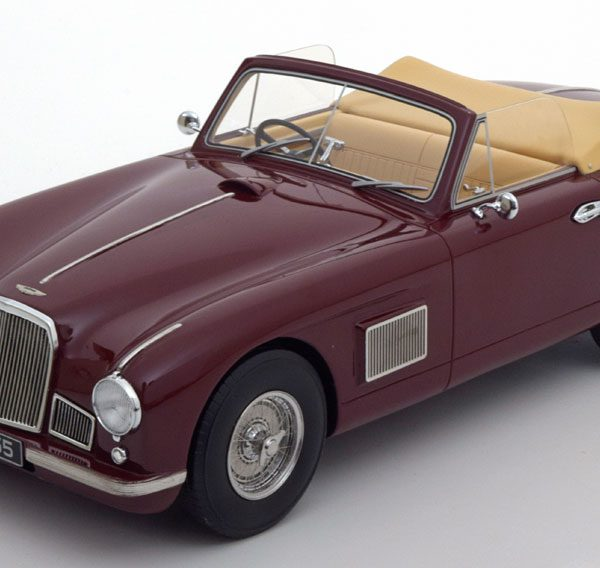 Aston Martin DB2 DHC Cabrio 1950 Donker Rood 1-18 BOS Models Limited 1000 Pieces