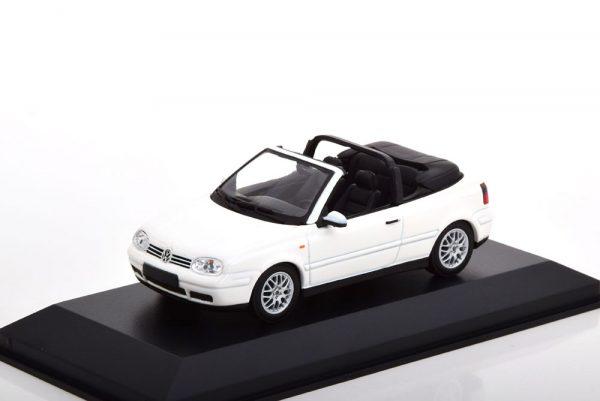 Volkswagen Golf IV Cabriolet 1998 Wit 1-43 Maxichamps