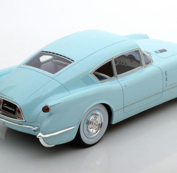 Chevrolet Corvette Corvair Concept 1954 Lichtblauw 1-18 BOS Models Limited 1000 Pieces