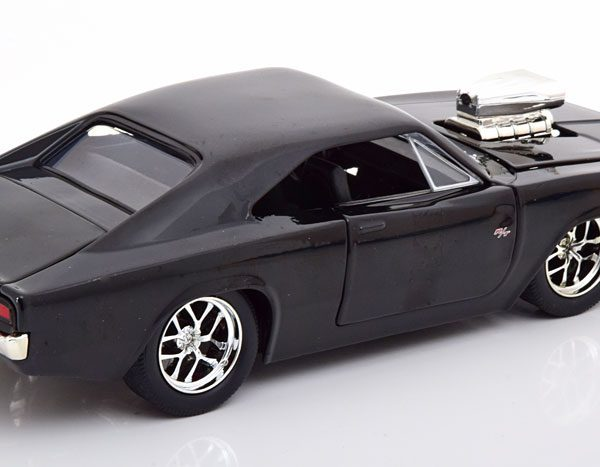 "Dodge Charger R/T 1970 ""Fast and The Furious "" Dom's Car met Figuur 1-24 Jada Toys"