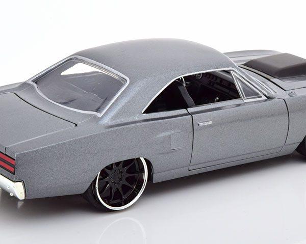 "Plymouth Road Runner ""Fast & Furious"" Dom's Car Grijs Metallic 1-24 Jada Toys"