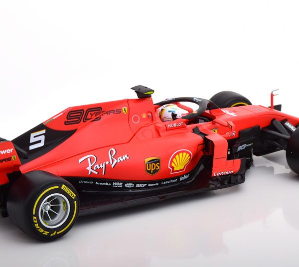 Ferrari SF90 Race Version 2019 S.Vettel 1-18 Burago Race Series