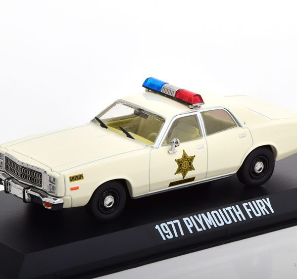 Plymouth Fury Hazzard County Sheriff 1977 Beige 1-43 Greenlight
