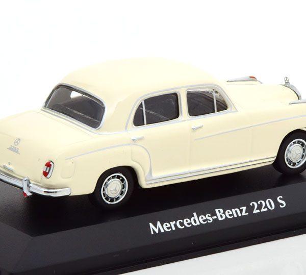 Mercedes-Benz 220 S 1956 Wit 1-43 Maxichamps