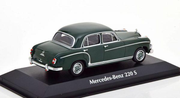 Mercedes-Benz 220 S 1956 Donker Groen 1-43 Maxichamps