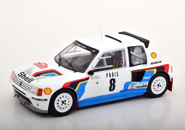 Peugeot 205 T16 No.8, Rally Monte Carlo 1985 Saby/Fauchille 1-18 Ixo Models