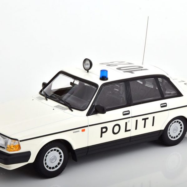 "Volvo 240 GL 1986 ""Politi Danmark""Wit 1-18 Minichamps Limited 300 Pieces"