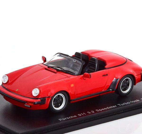 Porsche 911 3.2 Speedster Turbo ( look ) 1989 Rood 1-43 Spark