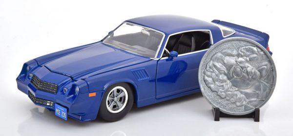 "Chevrolet Camaro Z28 ""Stranger Things"" Billy 1979 Blauw 1-24 Jada Toys"