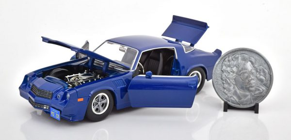 "Chevrolet Camaro Z28 ""Stranger Things"" Billy 1979 Blauw 1-24 Jada Toys"