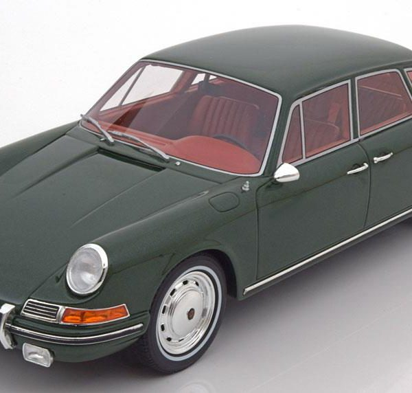 Porsche 911 S Troutman & Barnes 1967 Groen Metallic 1-18 BOS Models Limited 1000 Pieces