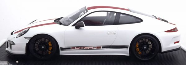 Porsche 911 R (991) Coupe 1-12 Wit ( met Vitrine ) Spark Limited 500 Pieces