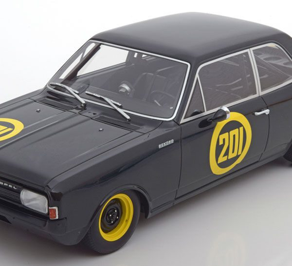 Opel Rekord C Nr#201 Zwart 1-18 BOS Models Limited 1000 Pieces ( Resin )