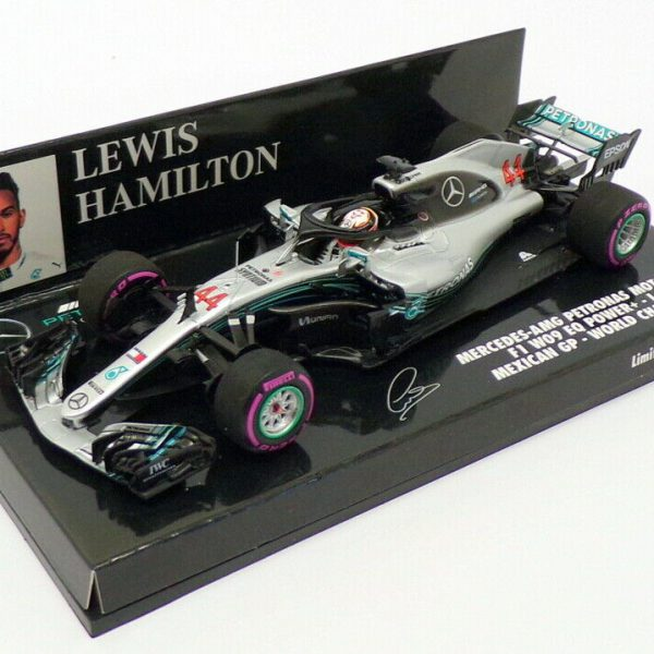 Mercedes-AMG Petronas Motorsport F1 W09 EQ Power Lewis Hamilton Mexican GP 2018 World Champion 1-43 Minichamps Limited 1012 Pieces