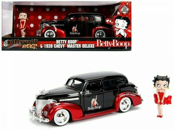 "Chevrolet Master De Luxe 1939 ""Betty Boop "" Hollywood Rides 1-24 Jada Toys"