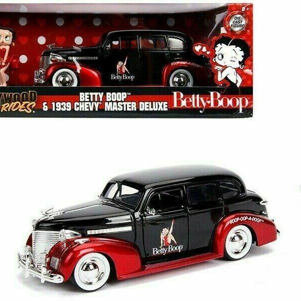 "Chevrolet Master De Luxe 1939 ""Betty Boop "" Hollywood Rides 1-24 Jada Toys"