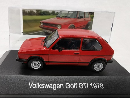 Volkswagen Golf I GTI 1978 Rood 1-43 Altaya Volkswagen Collection