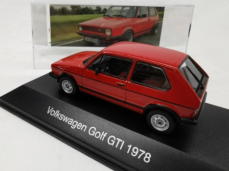 Volkswagen Golf I GTI 1978 Rood 1-43 Altaya Volkswagen Collection