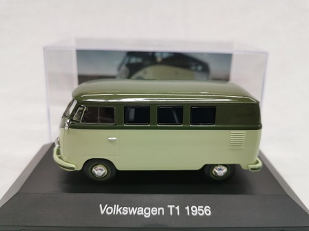 Volkswagen T1 Bus 1956 Groen 1-43 Altaya Volkswagen Collection