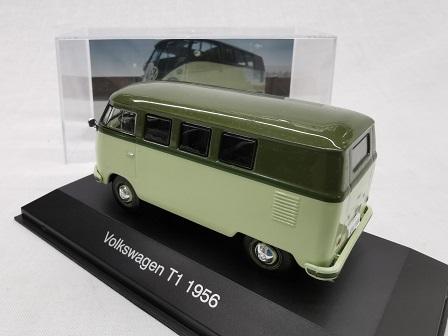 Volkswagen T1 Bus 1956 Groen 1-43 Altaya Volkswagen Collection