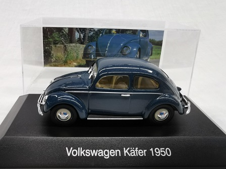 Volkswagen Kever 1950 ( Splitwindow )Blauw 1-43 Altaya Volkswagen Collection