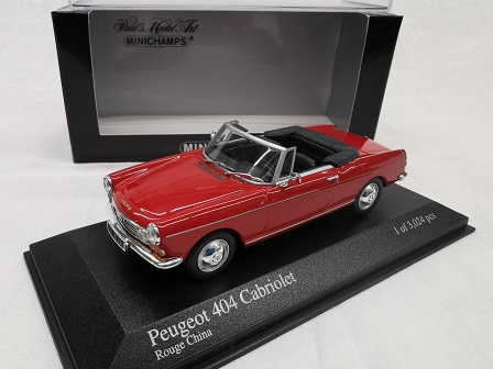 Peugeot 404 Cabriolet 1962 Rood 1-43 Minichamps Limited 3024 Pieces