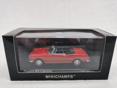 Peugeot 404 Cabriolet 1962 Rood 1-43 Minichamps Limited 3024 Pieces