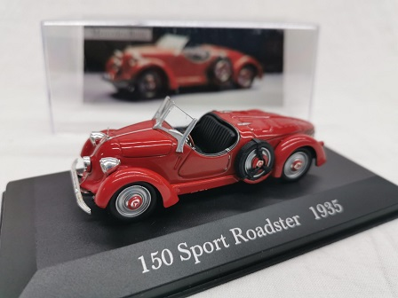 Mercedes-Benz 150 Super Roadster ( W30 ) 1935 Rood 1-43 Altaya Mercedes Collection