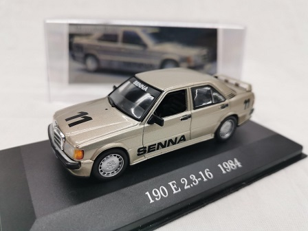 "Mercedes-Benz 190 E 2.3-16 1984 ""Senna ""Nr# 11 Brons Metallic 1-43 Altaya Mercedes Collection"