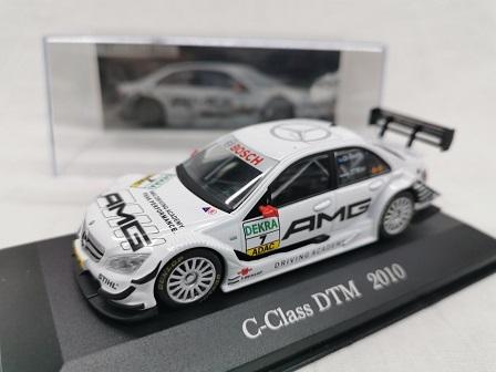 Mercedes-Benz C-Class DTM 2010 Nr# 7 Di Resta Wit 1-43 Altaya Mercedes Collection