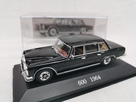 Mercedes-Benz 600 ( W100 ) 1964 Zwart 1-43 Altaya Mercedes Collection