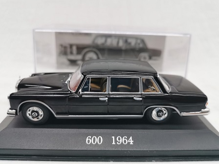 Mercedes-Benz 600 ( W100 ) 1964 Zwart 1-43 Altaya Mercedes Collection