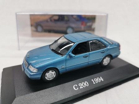 Mercedes-Benz C200 ( W202 ) 1994 Blauw 1-43 Altaya Mercedes Collection