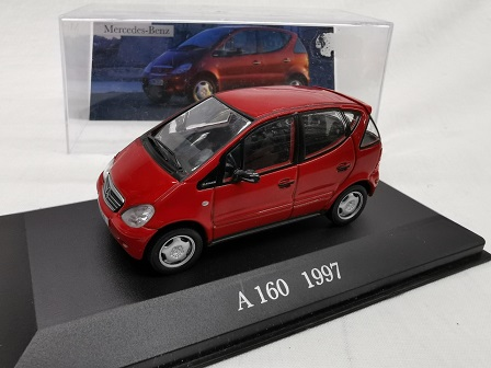 Mercedes-Benz A 160 1997 Rood 1-43 Altaya Mercedes Collection