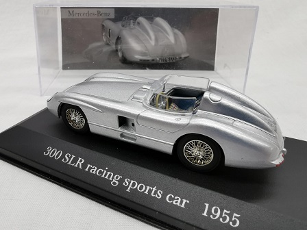Mercedes-Benz 300 SLR Racing Sports Car 1955 Zilver 1-43 Altaya Mercedes Collection