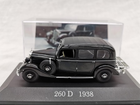 Mercedes-Benz 200 D ( W138 ) 1938 Zwart 1-43 Altaya Mercedes Collection