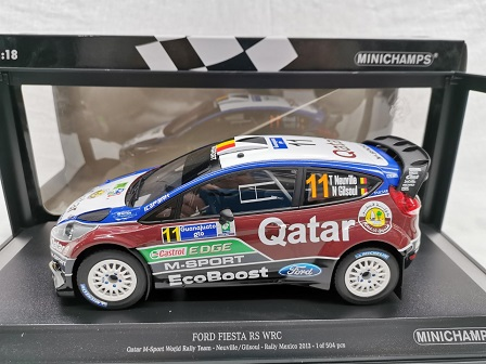 Ford Fiesta RS WRC Qatar M-Sport World Rally Team Rallye Mexico 2013 Neuville / Gilsoul 1-18 Minichamps Limited 504 Pieces