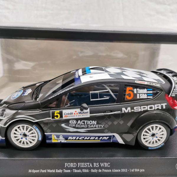 Ford Fiesta RS WRC M-Sport Ford World Rally Team Rally de France Alsace 2012 Tanak/ Sikk 1-18 Minichamps Limited 504 Pieces