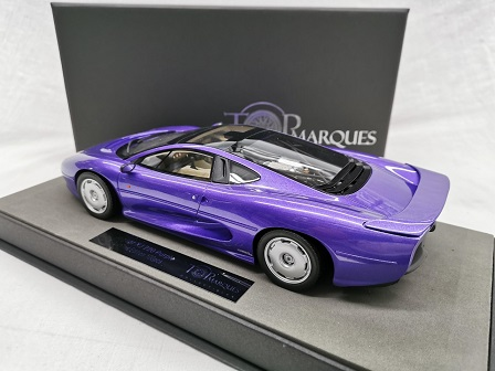 Jaguar XJ 220 1992-1994 Paars Metallic 1-18 Top Marques Limited 100 Pieces